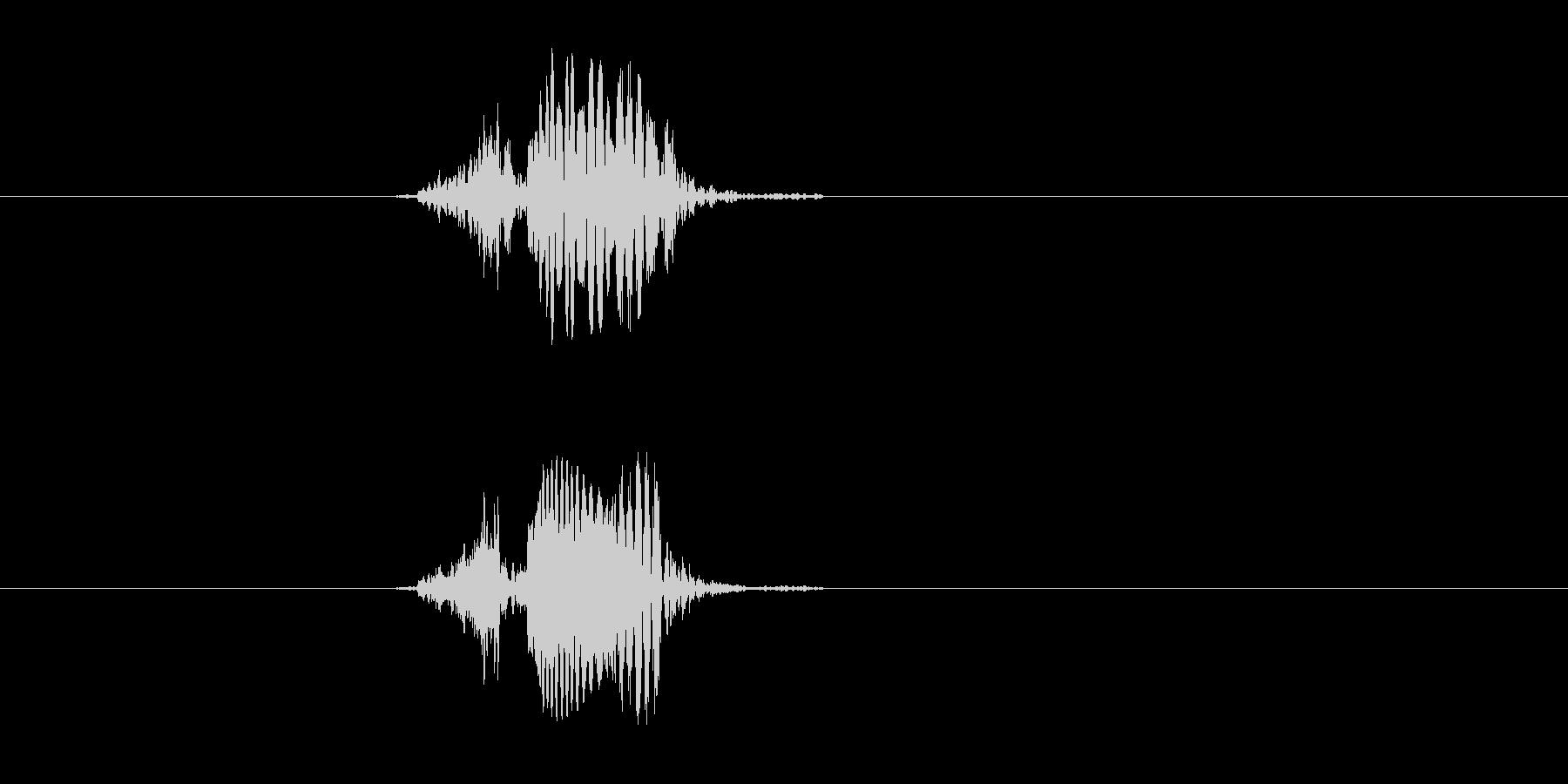 ピポーーン(落ちる、穴)の未再生の波形