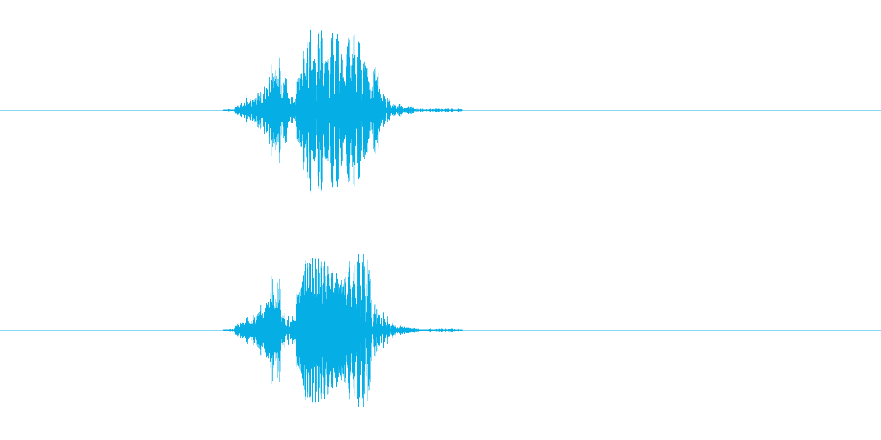 ピポーーン(落ちる、穴)の再生済みの波形