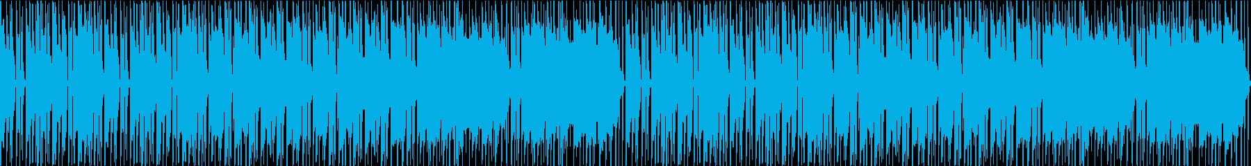ほのぼのとしつつも心がウキウキするBGMの再生済みの波形