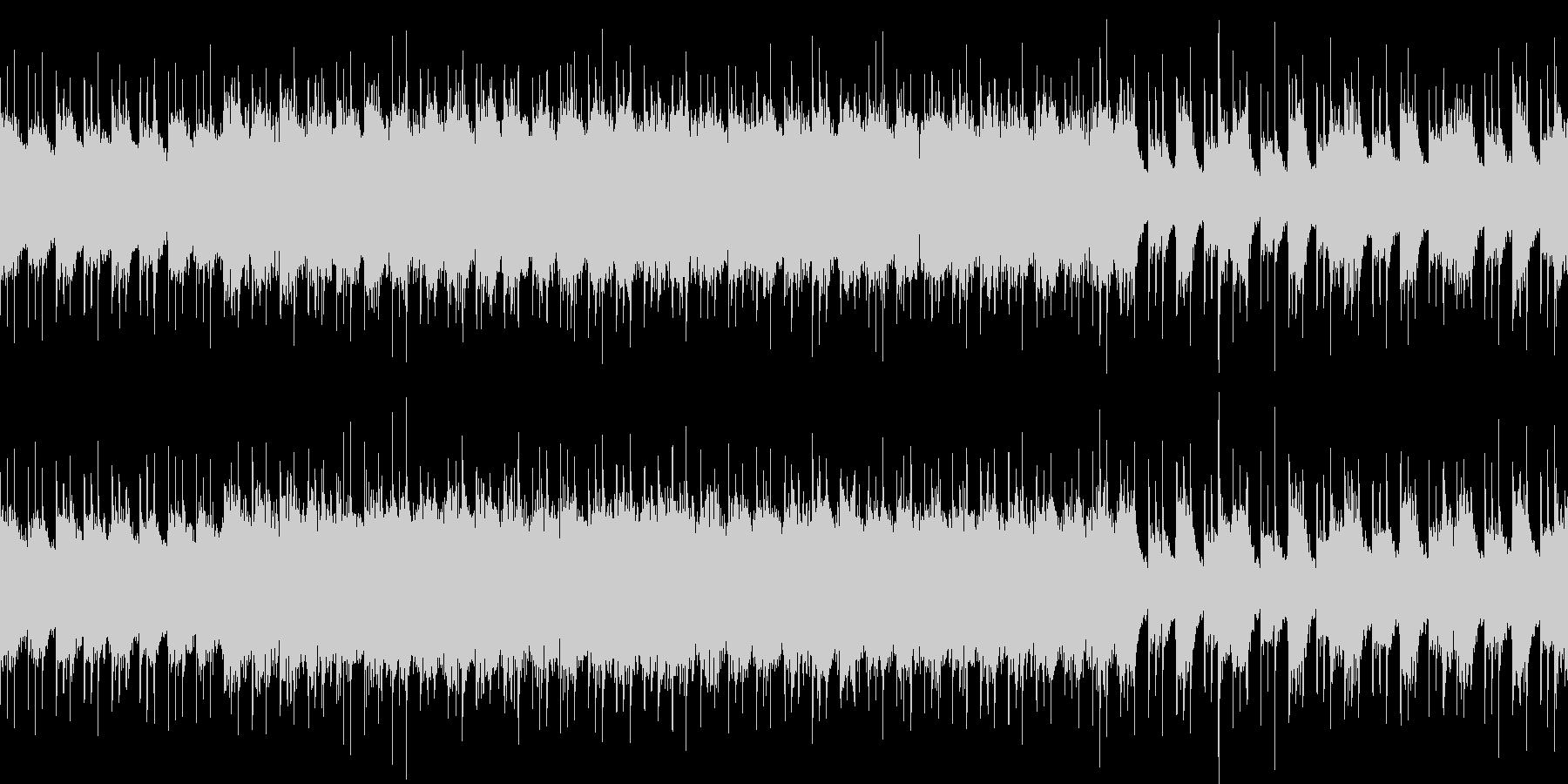 ループ パワフルなギターのハードロックの未再生の波形