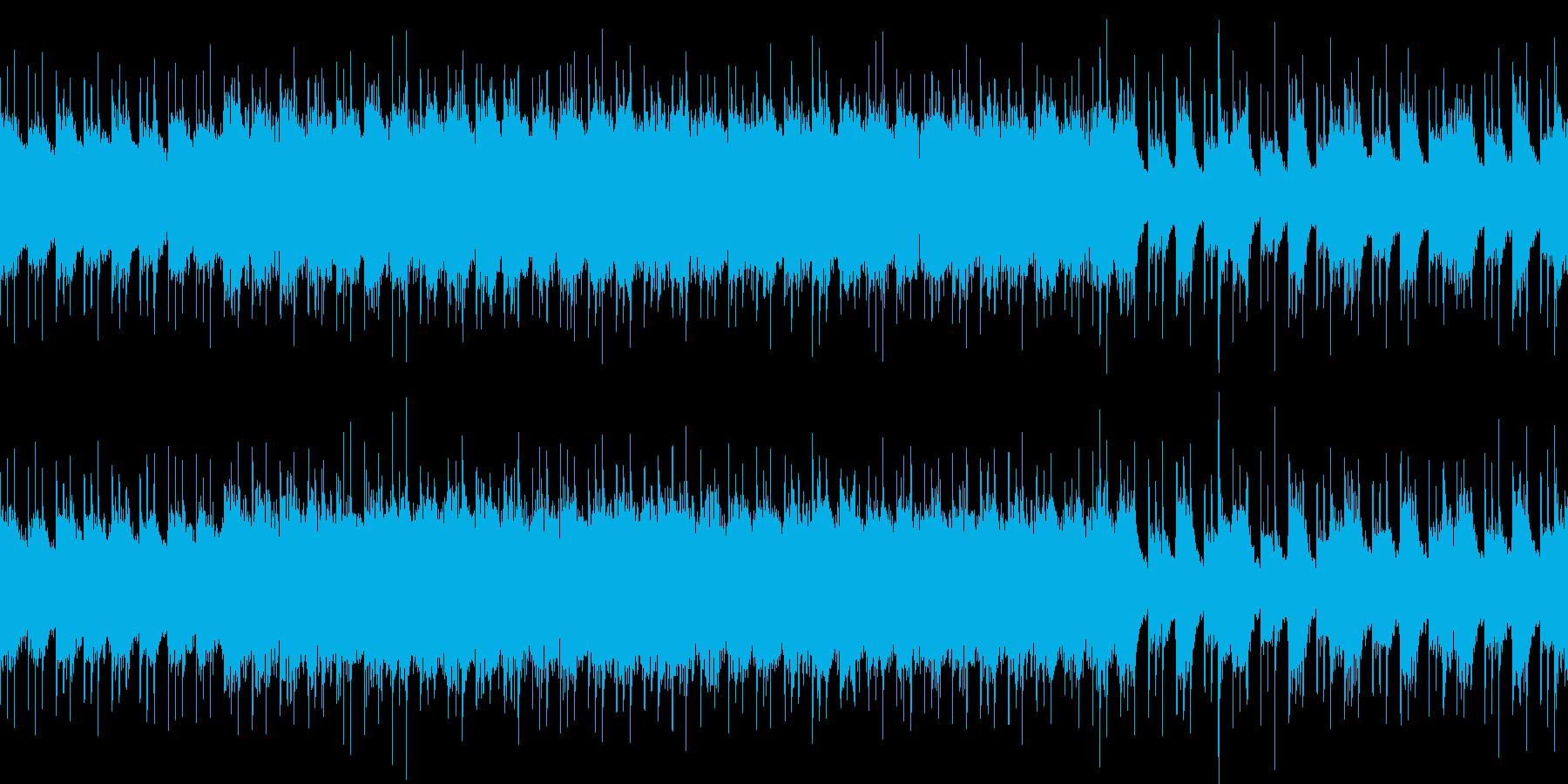 ループ パワフルなギターのハードロックの再生済みの波形