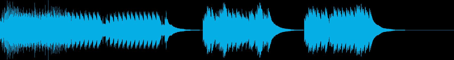 オルゴール風に見せかけてうるさいアラームの再生済みの波形