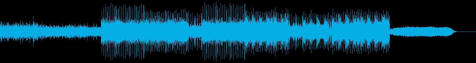 動画 技術的な ハイテク バックグ...の再生済みの波形