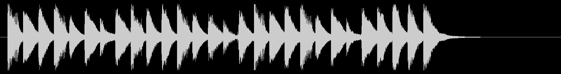 ポップ、軽やか、楽しいサウンドロゴの未再生の波形
