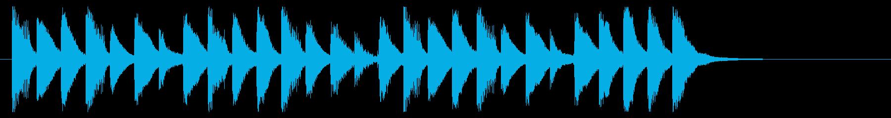ポップ、軽やか、楽しいサウンドロゴの再生済みの波形