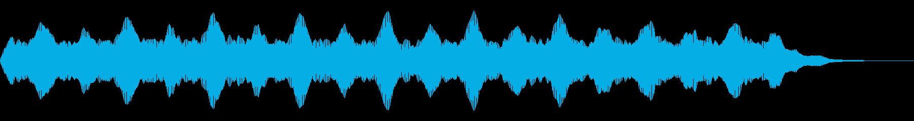 ブーン:不穏なイメージのシンセベースの再生済みの波形