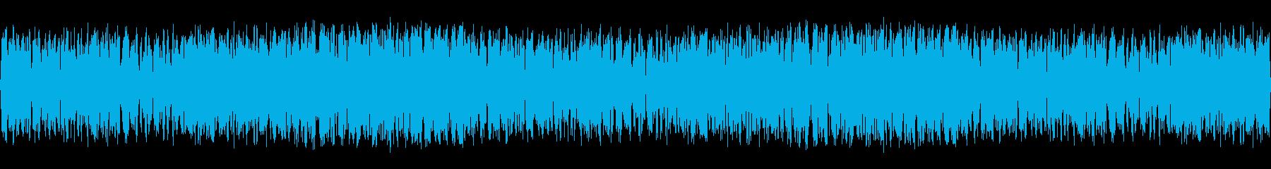 大声でカエルのコーラスの再生済みの波形