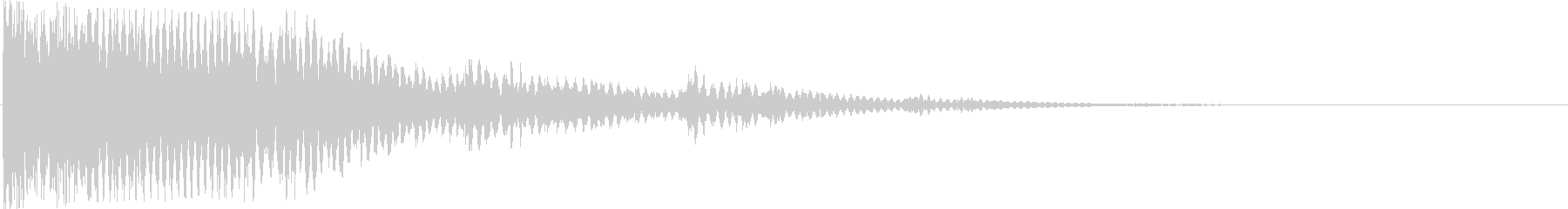 ピローンピローンピロー…(クリック音)の未再生の波形
