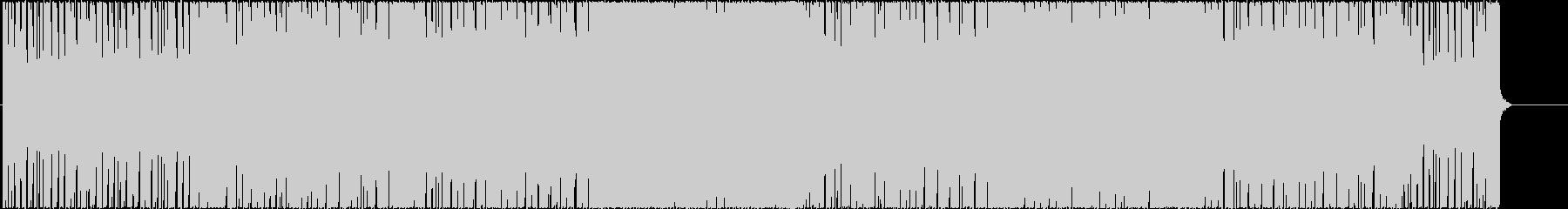 スリリングで不思議なユーロビートの未再生の波形