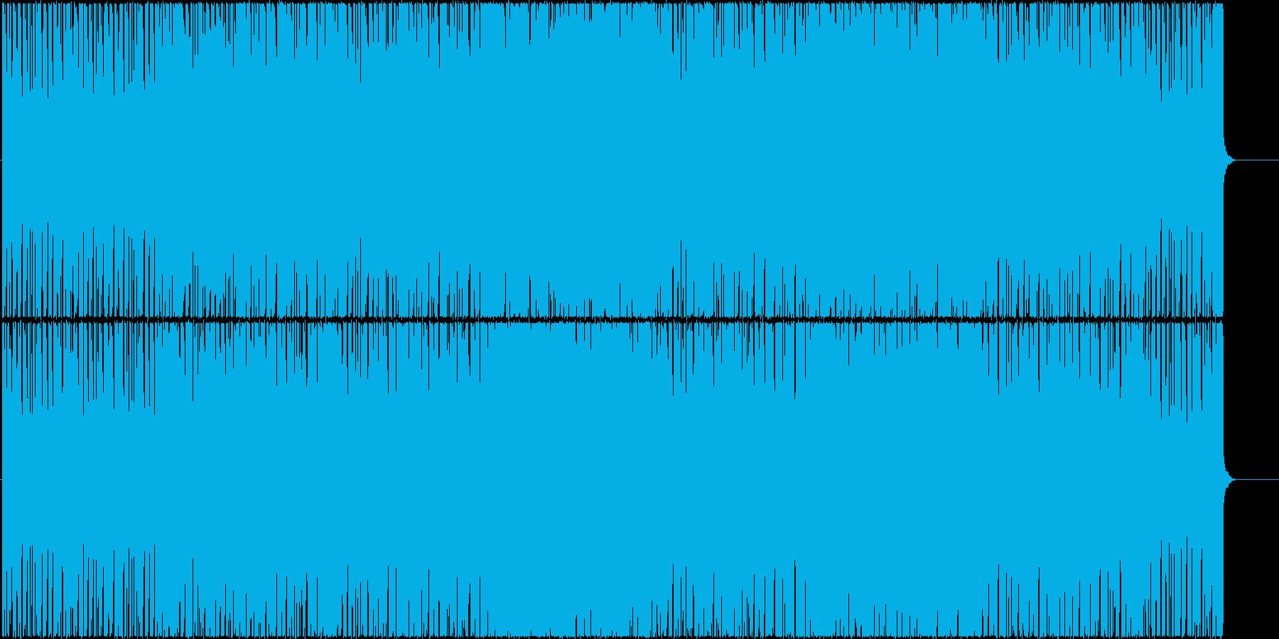 スリリングで不思議なユーロビートの再生済みの波形