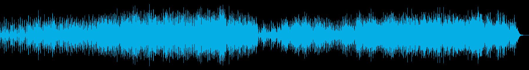 陰鬱なテクスチャのアンビエントIDMの再生済みの波形