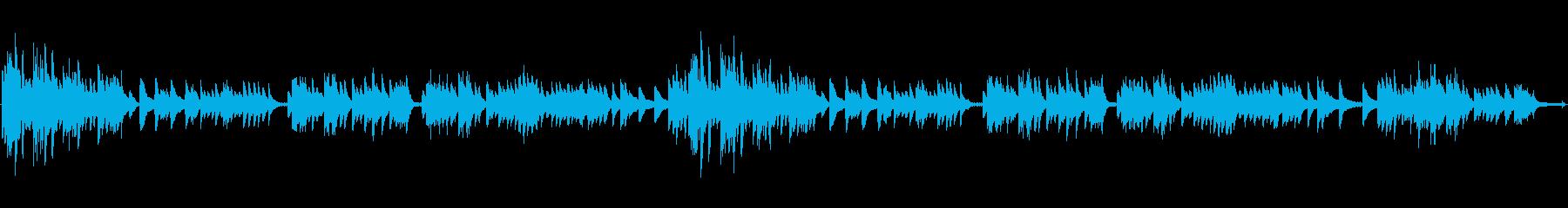 郷愁をそそる戦後復興ソングのピアノ伴奏の再生済みの波形