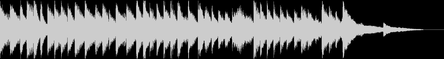 明るく軽めの変拍子のピアノソロの未再生の波形