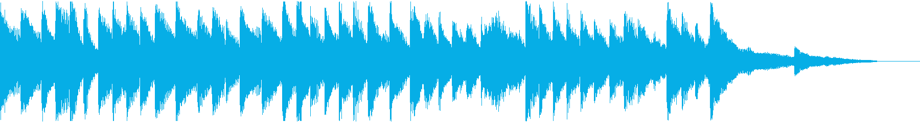 明るく軽めの変拍子のピアノソロの再生済みの波形
