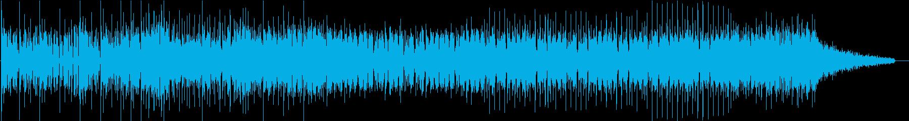 エレクトロニックなダンスミュージックの再生済みの波形