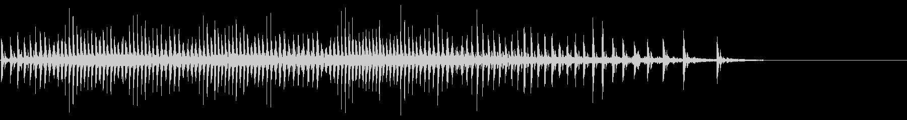 [生録音]魚釣り、リールを巻く03の未再生の波形