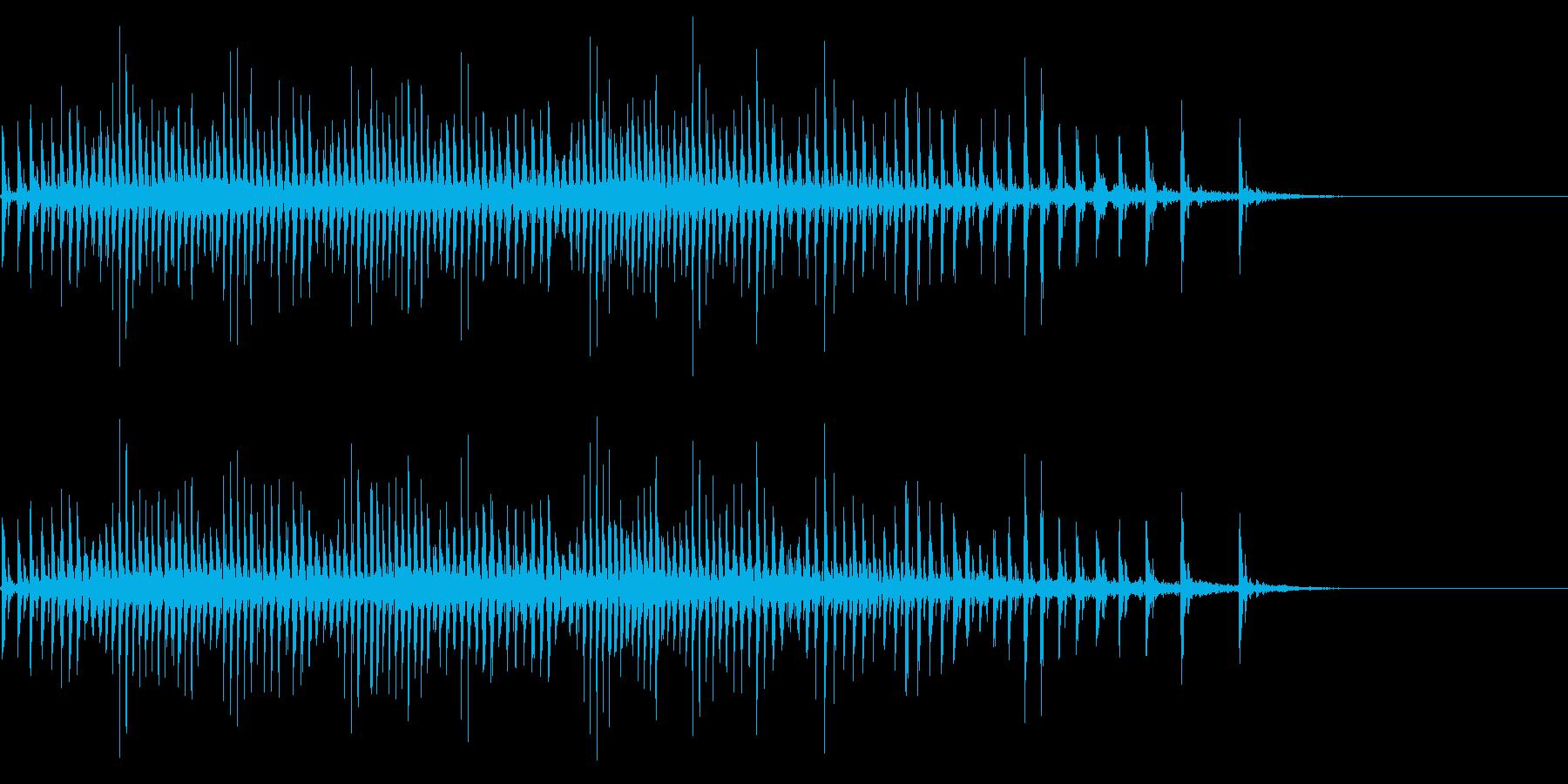 [生録音]魚釣り、リールを巻く03の再生済みの波形