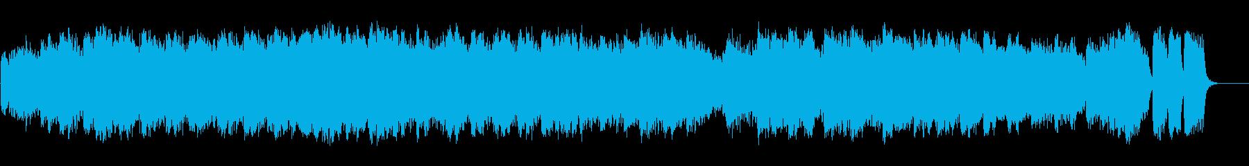 極寒の地のオーロラを意識した清涼BGMの再生済みの波形