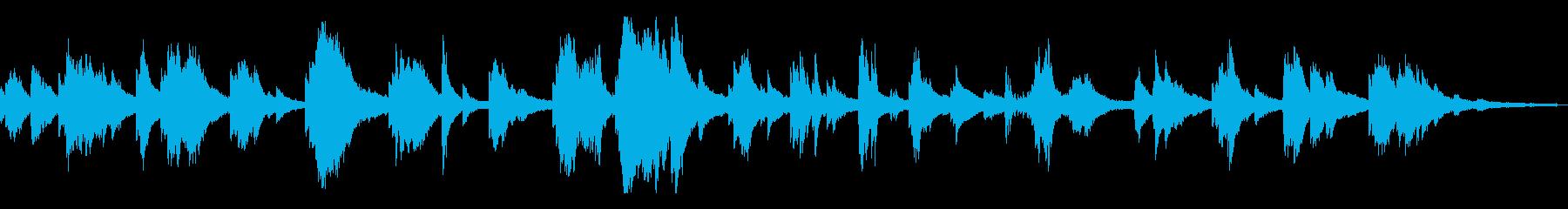 狂気/不気味な和風の雰囲気13-ピアノの再生済みの波形