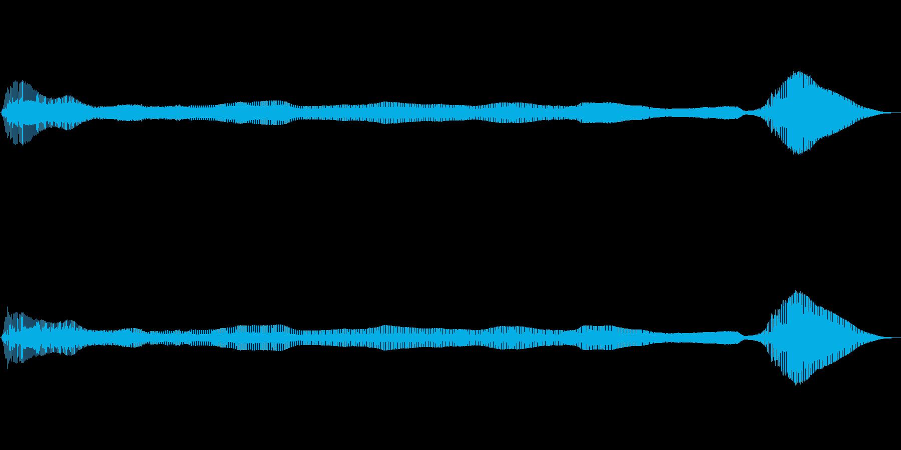 長めでダイナミクスがある屁の再生済みの波形