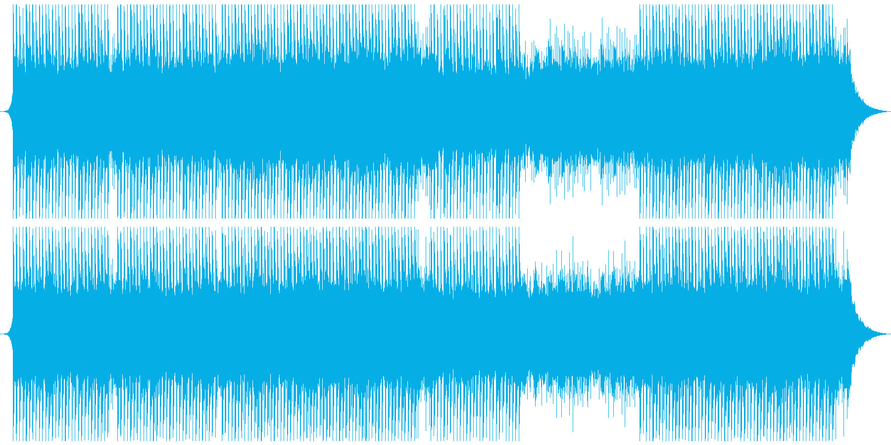 感動的で意図的な企業音楽の再生済みの波形