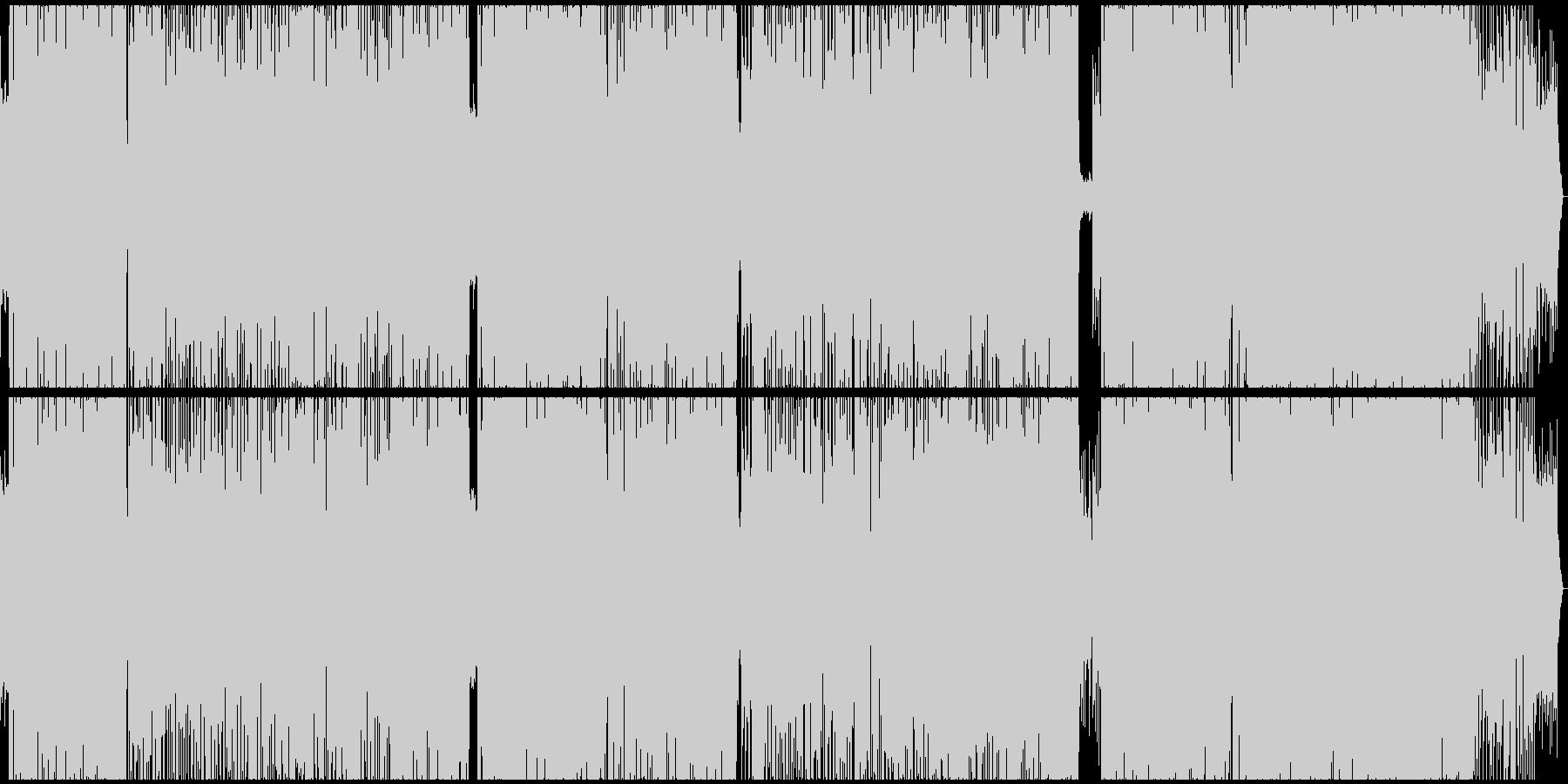 ファンキーなポップロックの未再生の波形