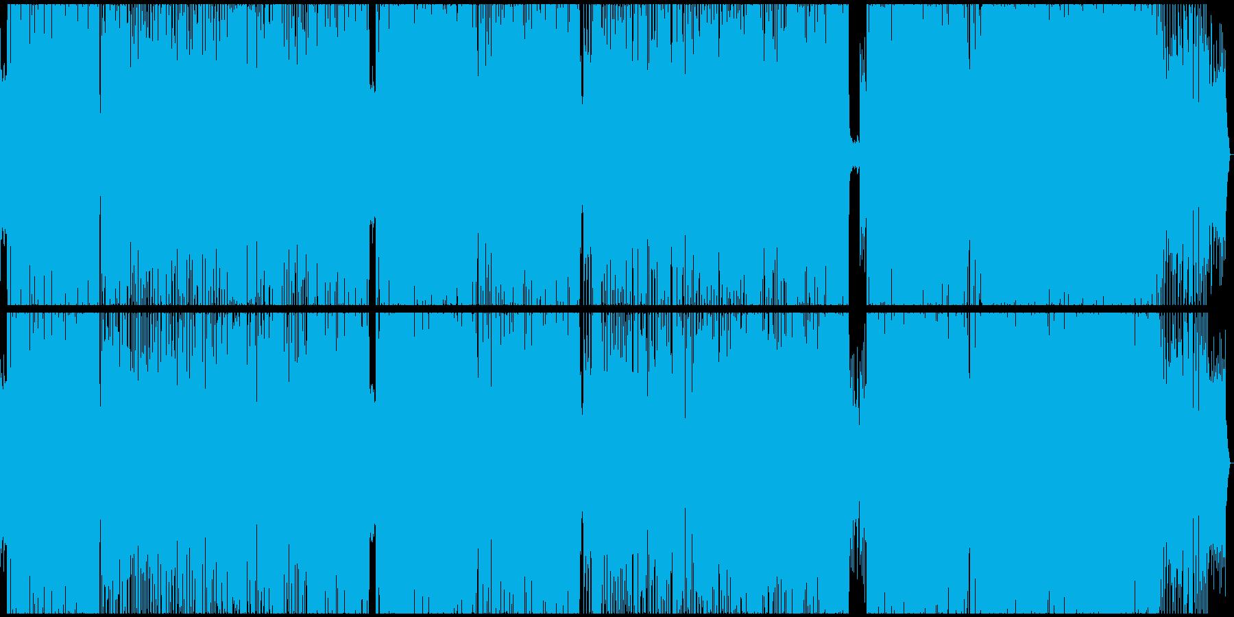ファンキーなポップロックの再生済みの波形