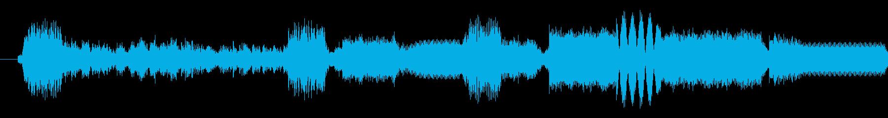 追跡デバイスがオン;面白いトーンの...の再生済みの波形