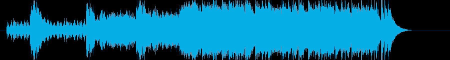 明るくわくわくするポップスの再生済みの波形