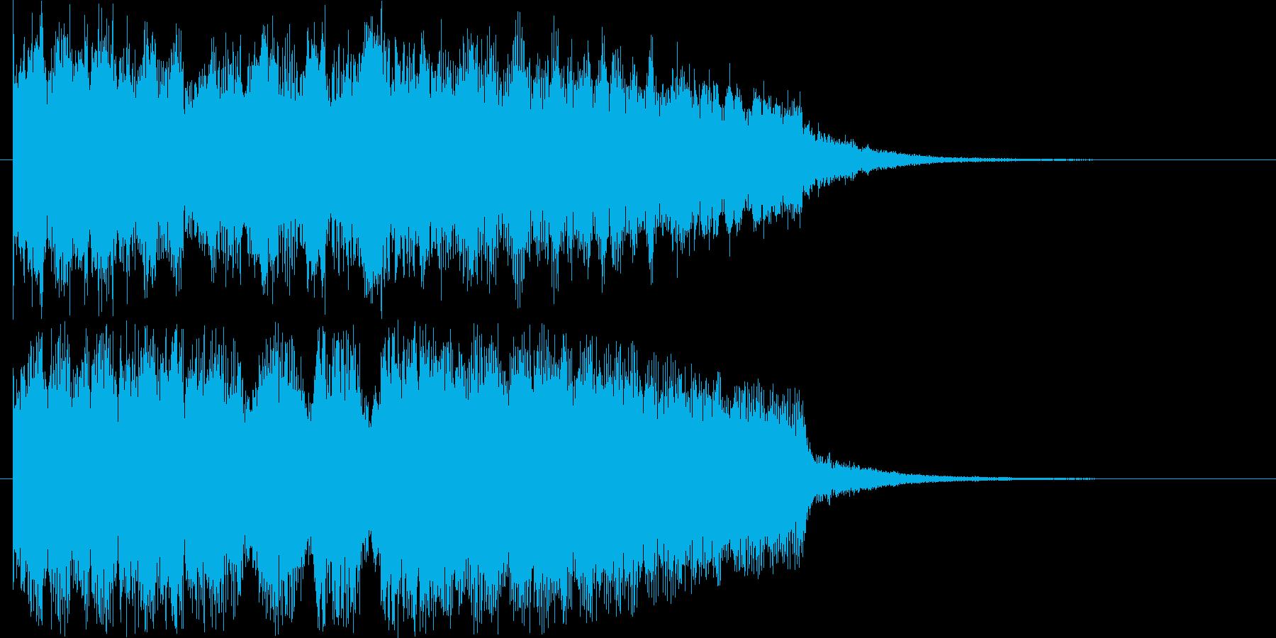 勢いのあるジングル曲の再生済みの波形