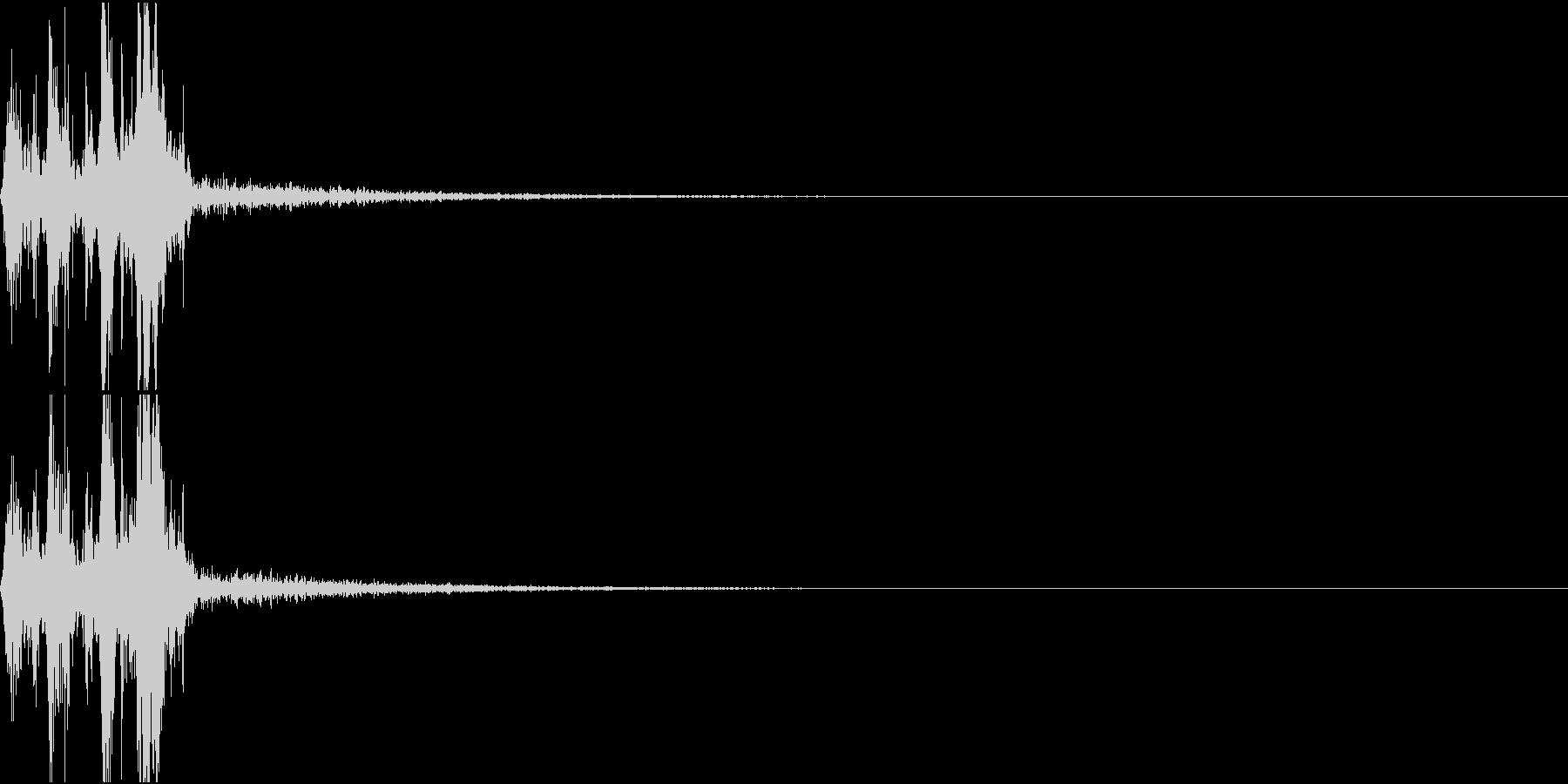 Camera 室内撮影 シャッター音 7の未再生の波形