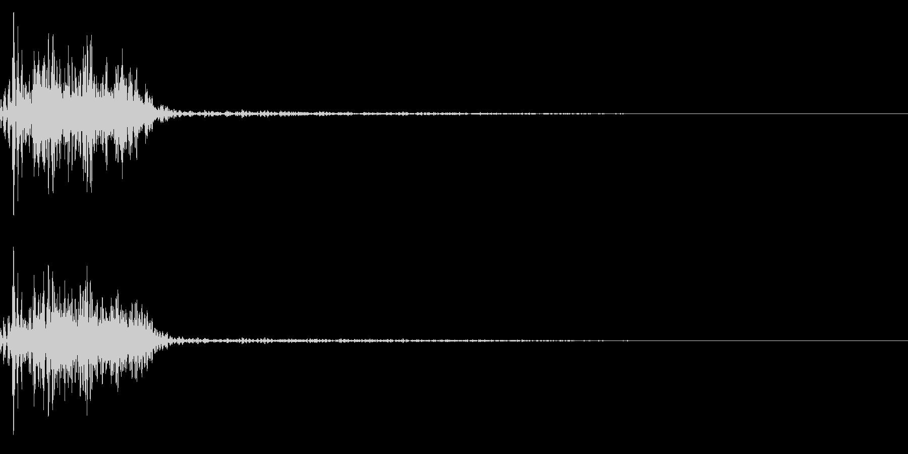 キャンセル音(ダーク、暗めな質感)の未再生の波形
