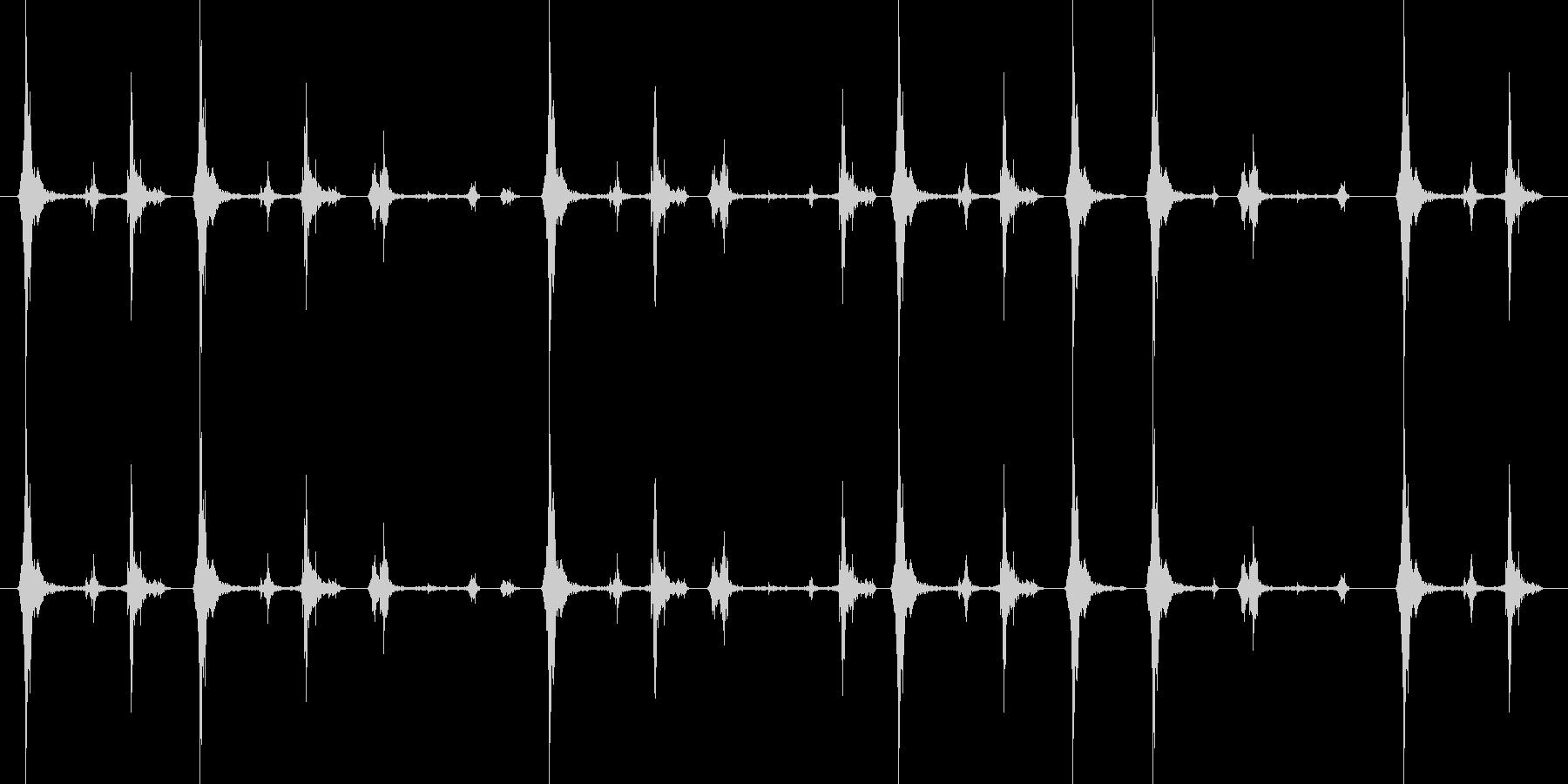 タイプライターの未再生の波形