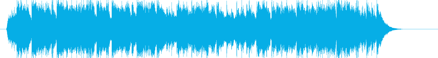 豪華で明るいシンセサイザーサウンドの再生済みの波形