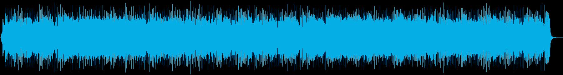 即興演奏風の陽気なギターロックBGMの再生済みの波形