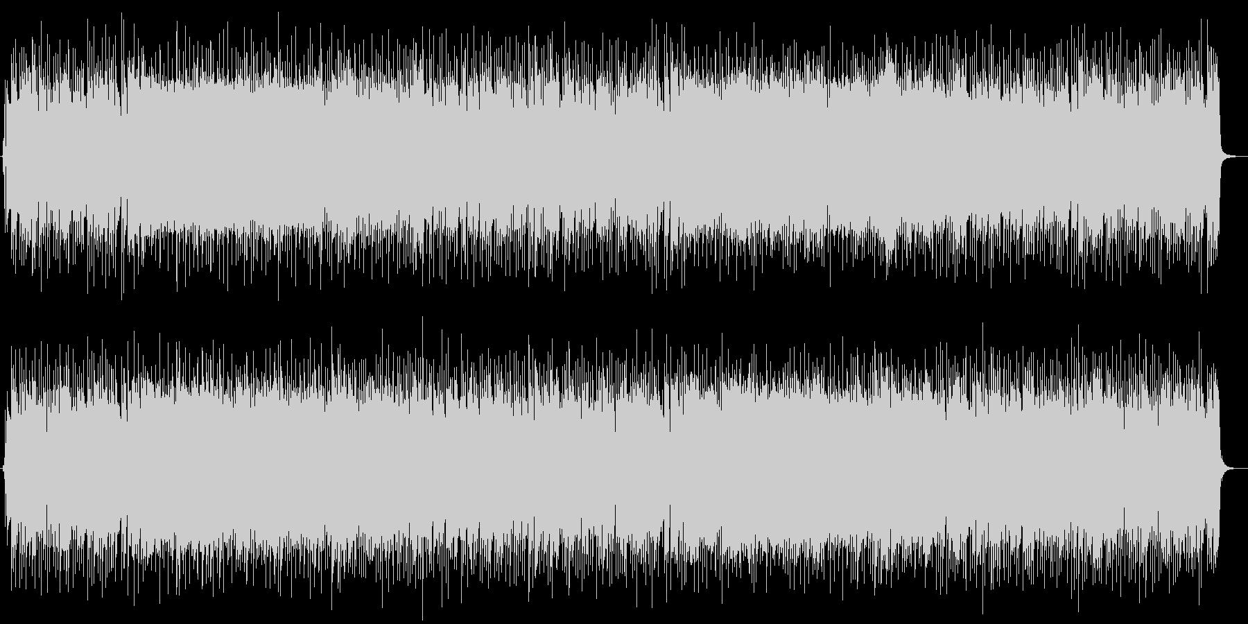 即興演奏風の陽気なギターロックBGMの未再生の波形