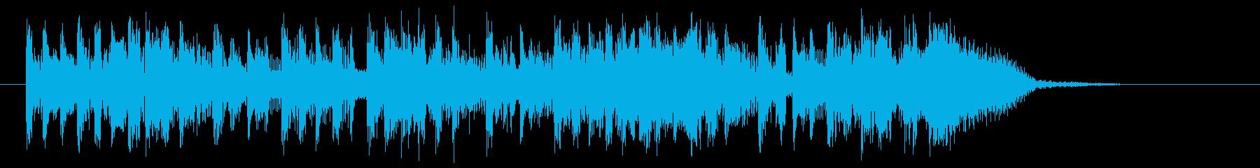 アップテンポの都会的なサウンドの再生済みの波形