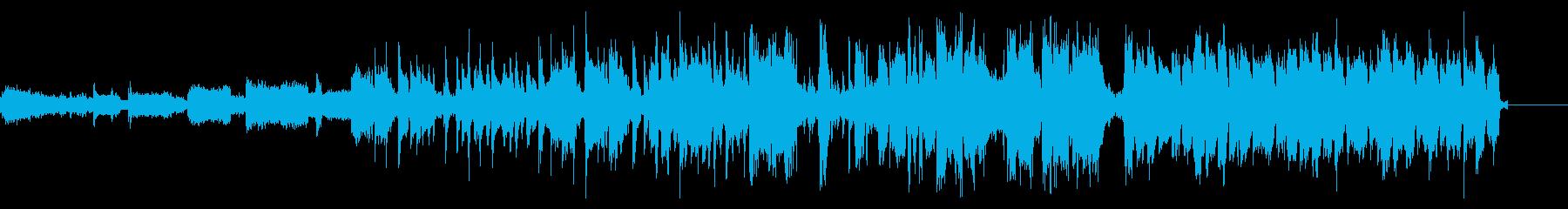 ファンキーなフルートがリードするCM音源の再生済みの波形