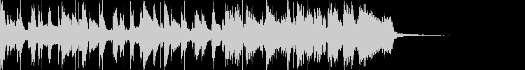 生演奏ギター ブラスファンクジングルの未再生の波形