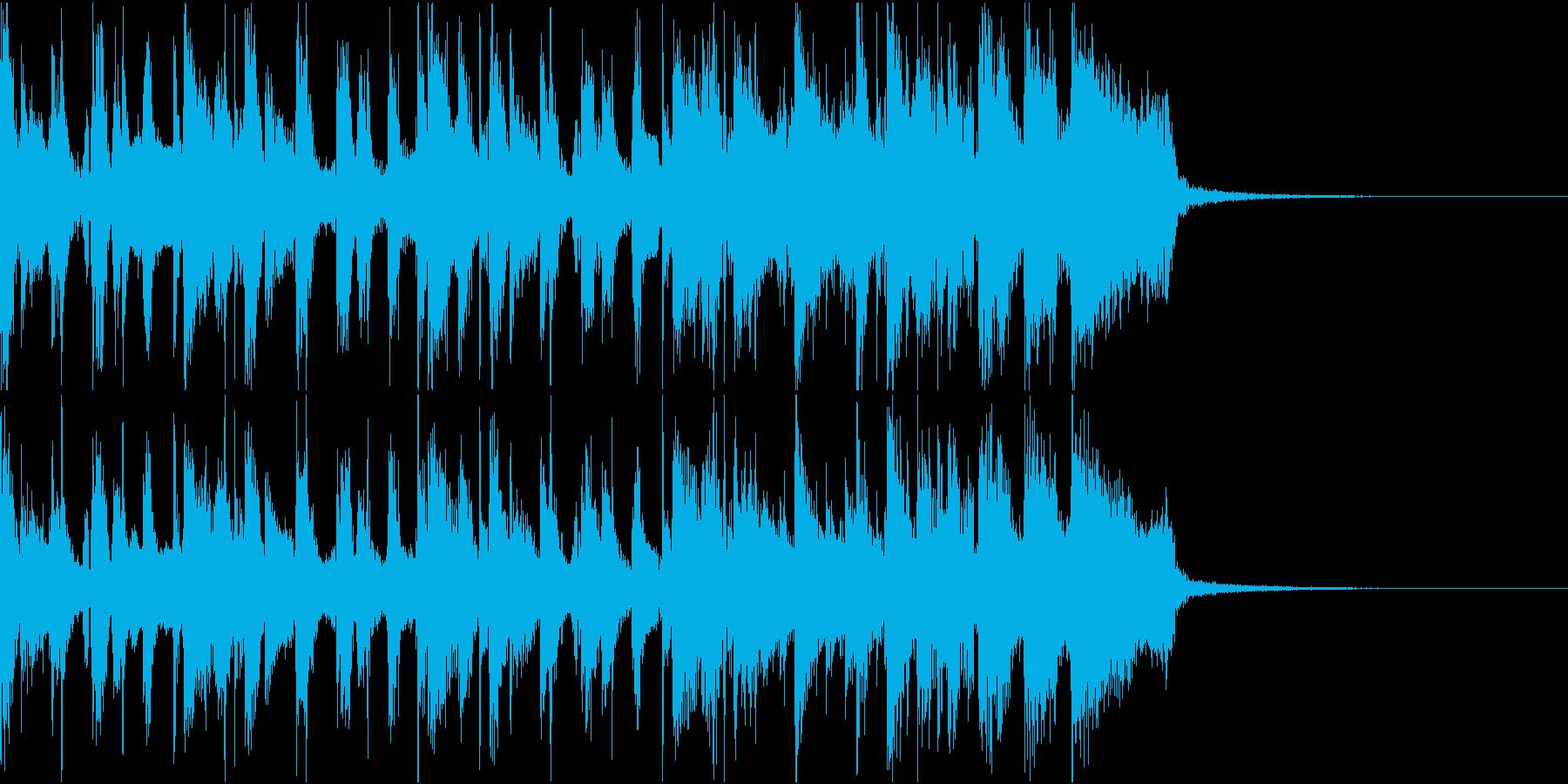 生演奏ギター ブラスファンクジングルの再生済みの波形