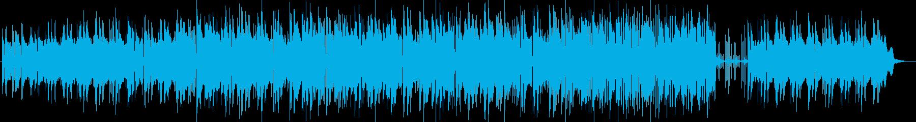 まったりと流れるシンセサイザーサウンドの再生済みの波形