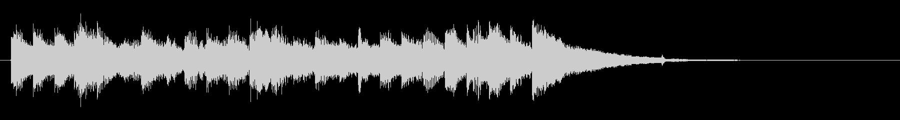 クエスト完了のチェンバロの音楽の未再生の波形