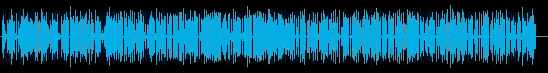 軽やかに弾むミュージックの再生済みの波形