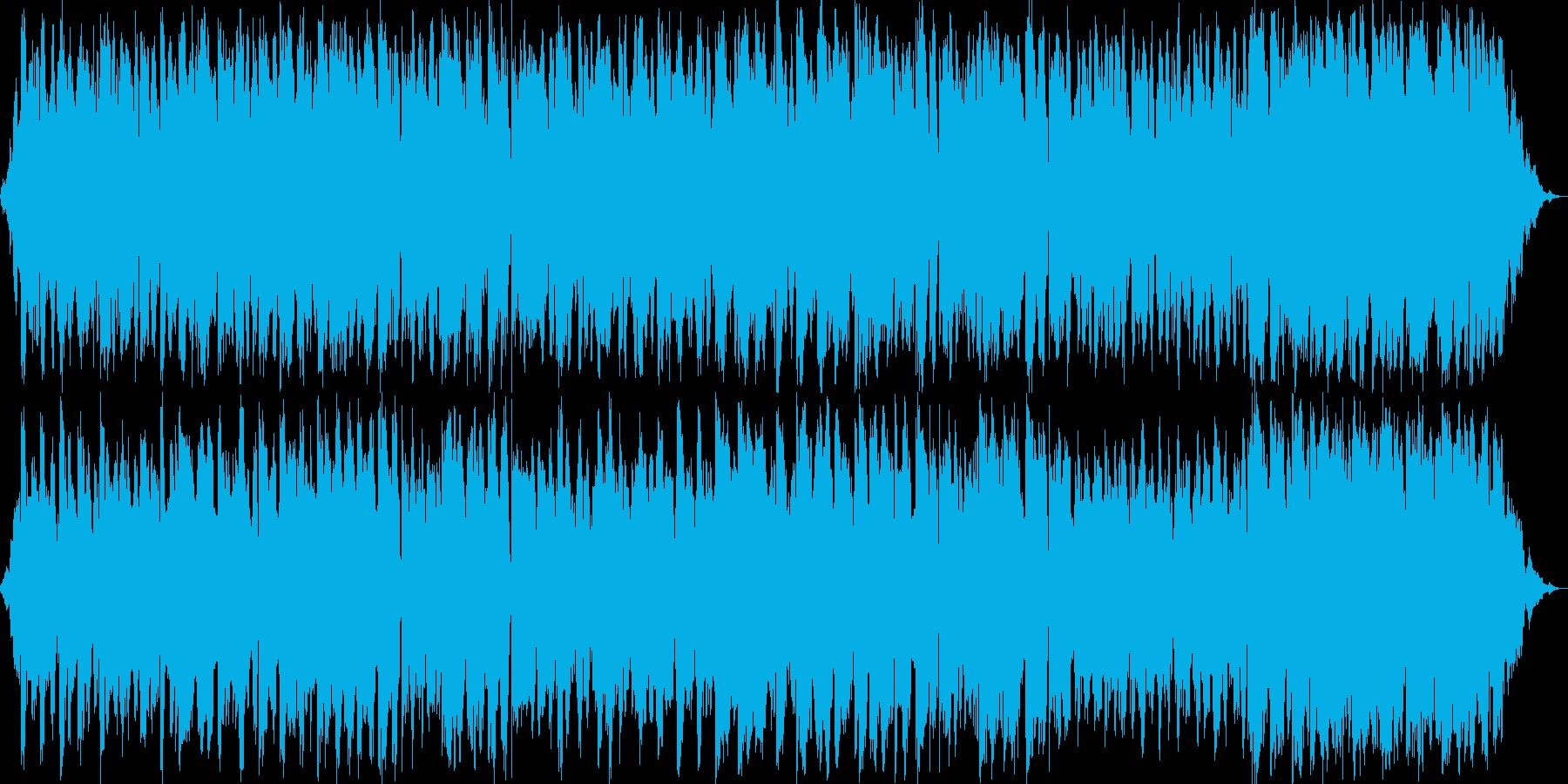 幻想的なギターのリラクゼーション曲の再生済みの波形
