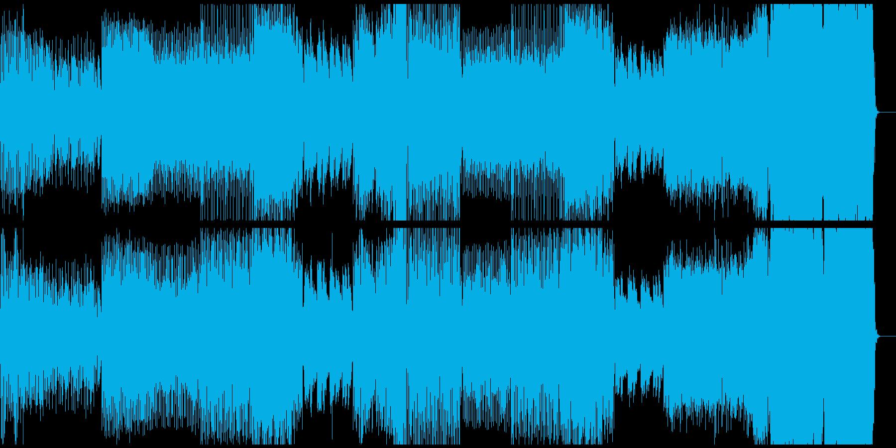 可愛い感じの音使いでノリの良いダンス系の再生済みの波形