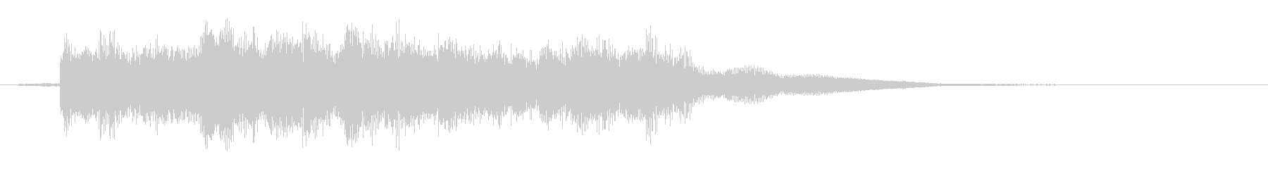 サウンドロゴ、ジングル#8の未再生の波形