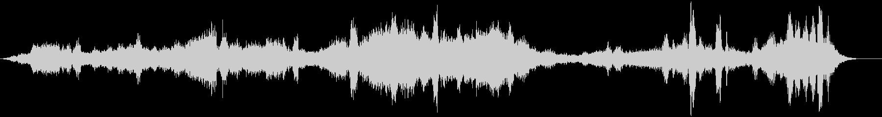 複数発声ボーカルドローンボーカルの未再生の波形