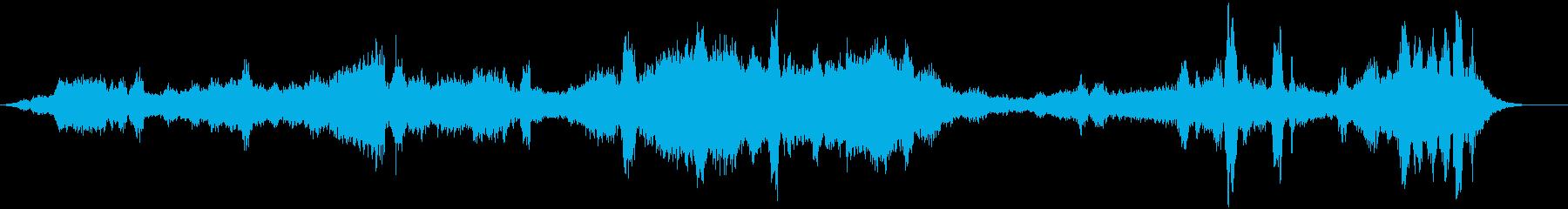 複数発声ボーカルドローンボーカルの再生済みの波形