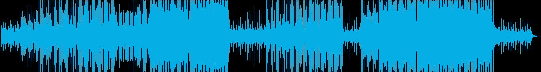 ゆったりとしたトロピカルな南国気分の楽曲の再生済みの波形