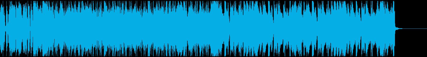 フュージョン感があるポストロック系BGMの再生済みの波形